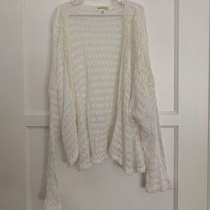 BRAND NEW ivory knitted lace cardigan sweater